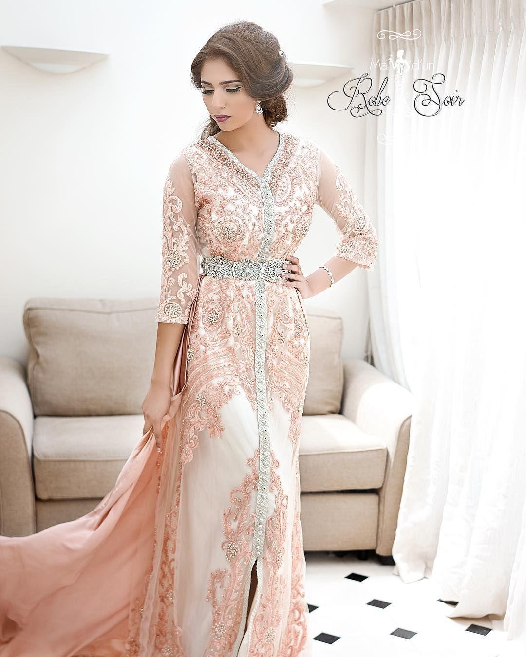 Caftan Fayrouz Rose Collection Invitee 2017