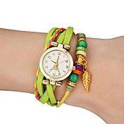 Mujeres Gold Leaf cuero del estilo colorido d... – USD $ 7.59