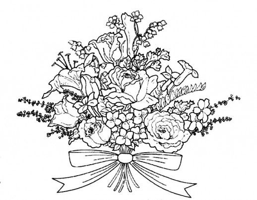 Wedding Flowers Coloring Pages Google Search Bunch Of Flowers