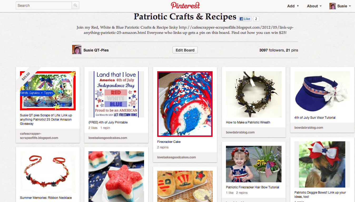 Join the Pinterest Link up