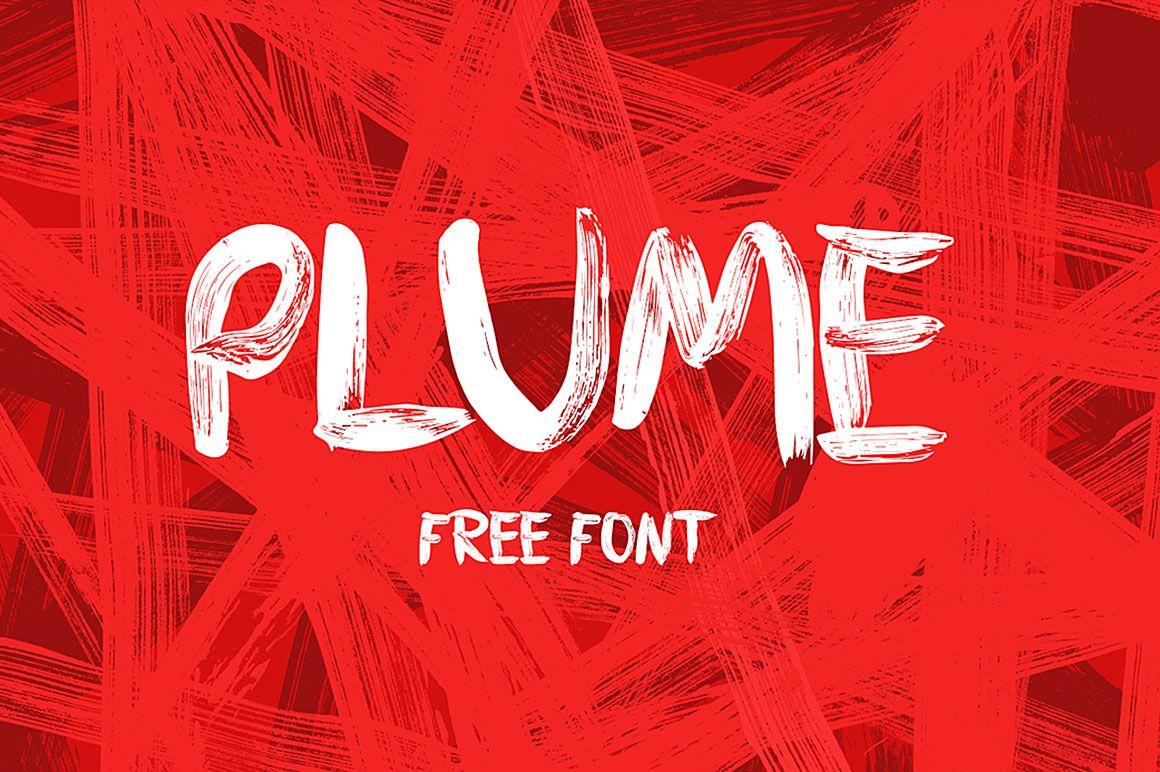 Plume Free Brush Font Brush Font Free Watercolor Font Free