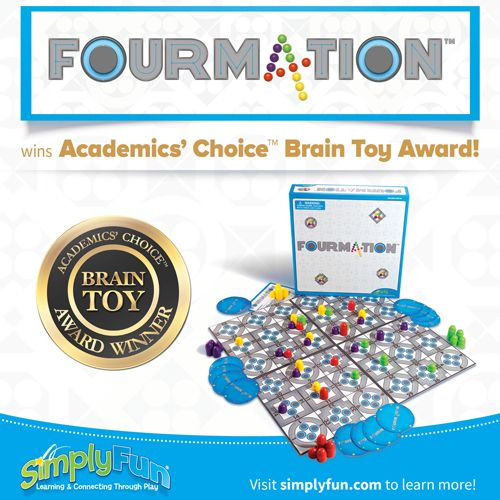 Fourmation Is An Amazing New Game That Combines Math With Strategy The Object Is To Connect Four Zones In A Row Up Down News Games Connect Four Family Fun