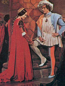 1968 - Juliet's and Paris' costumes in ballroom scene. The ...