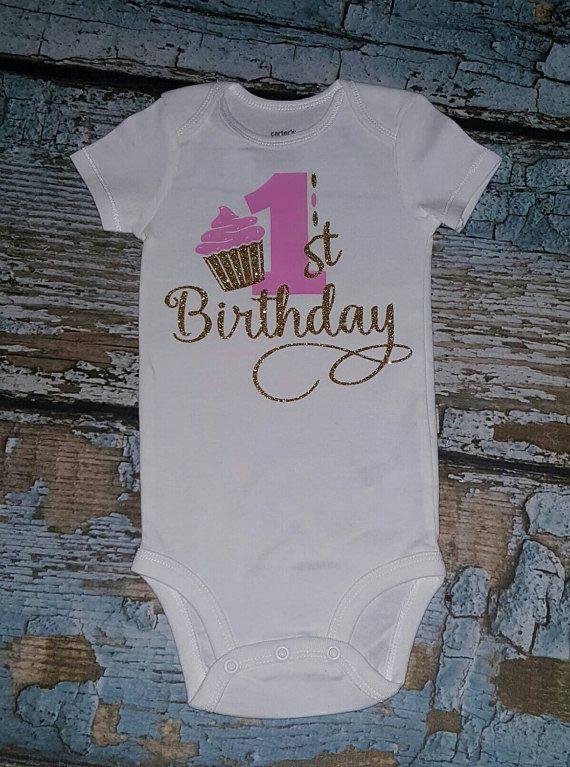 1a3598a49 1st birthday onesie girls 1st birthday bodysuit pink and | baby ...