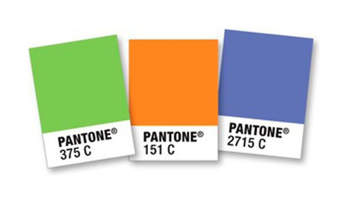 Pantone to RGB and Hex conversion chart