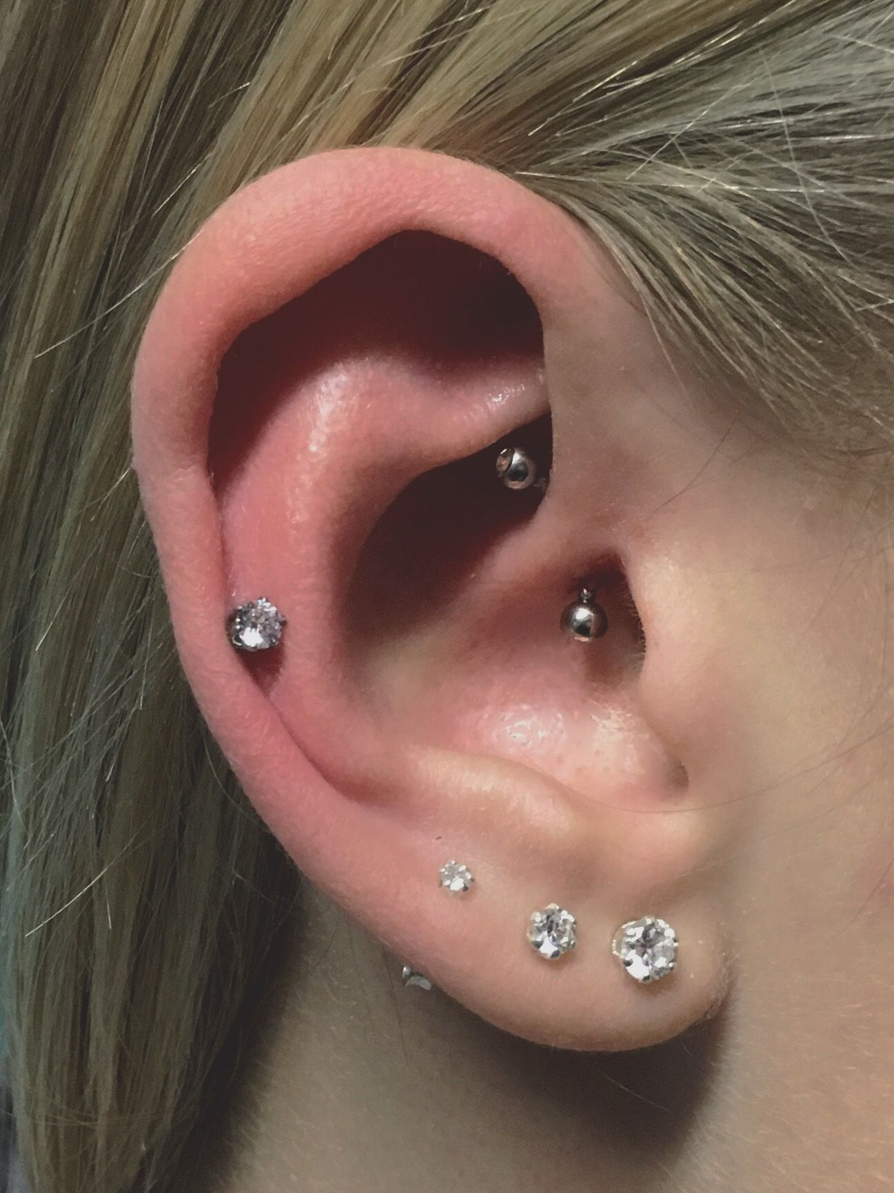 Cartilage piercing ideas  daith midcartilage and three lobe daith auricle cartilage
