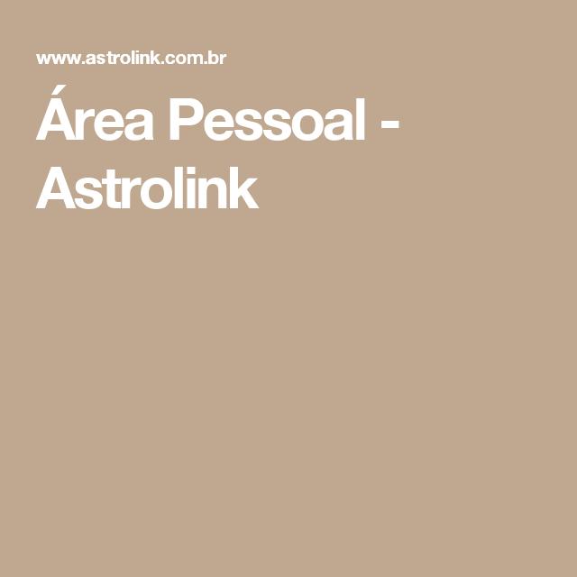 Área Pessoal - Astrolink