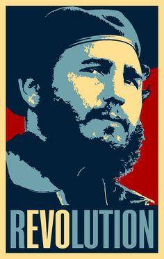 Political Cuban POSTER.Castro Revolution.Cold War Cuba REvolution Graphic Art.1