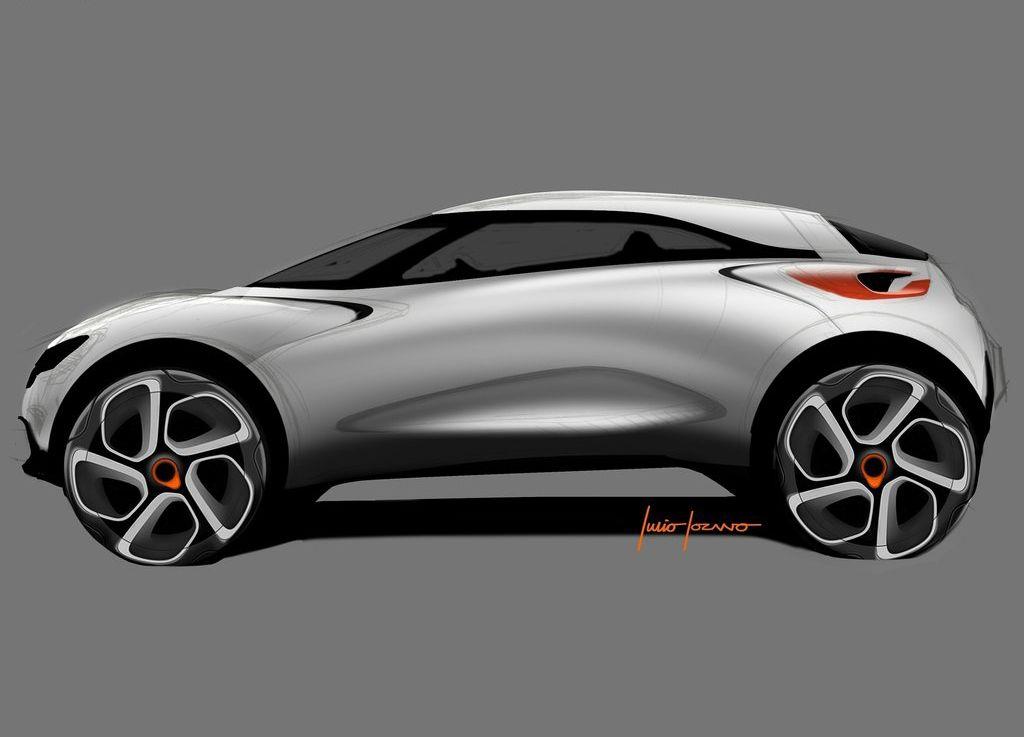 Renault Captur Concept Transportation Car Design Sketch