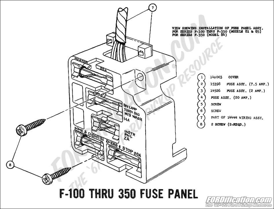 pin 1972 ford f 100 thru 350 master wiring diagram on