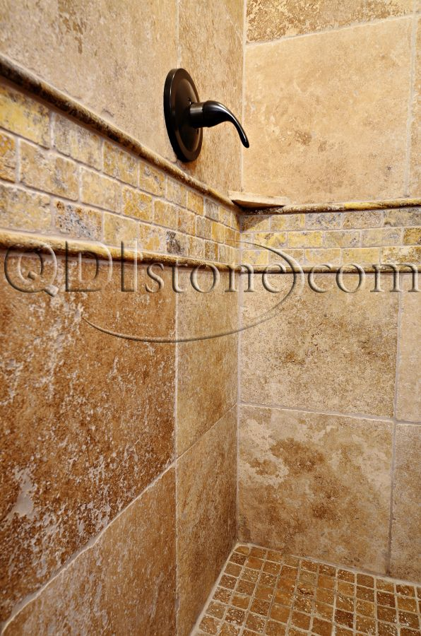 Tumbled Travertine Qdi Stone Noce 6x6 Tumbled