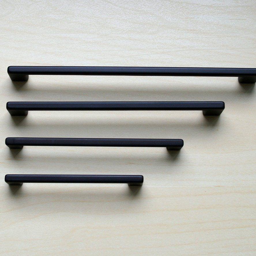 Modern Black Cabinet Pull Black Cabinet Hardware Etsy Black Cabinet Hardware Black Kitchen Handles Affordable Cabinets