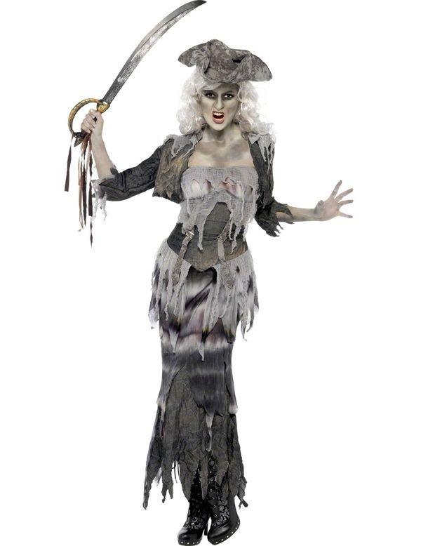 Haunted Asylum Nun Costume Ladies Halloween Ghost Fancy Dress Outfit