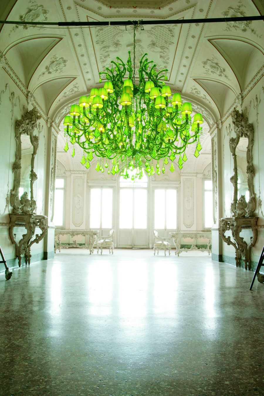 Neon back in a big way green chandeliers chandeliers and lights green forniture arubaitofo Choice Image