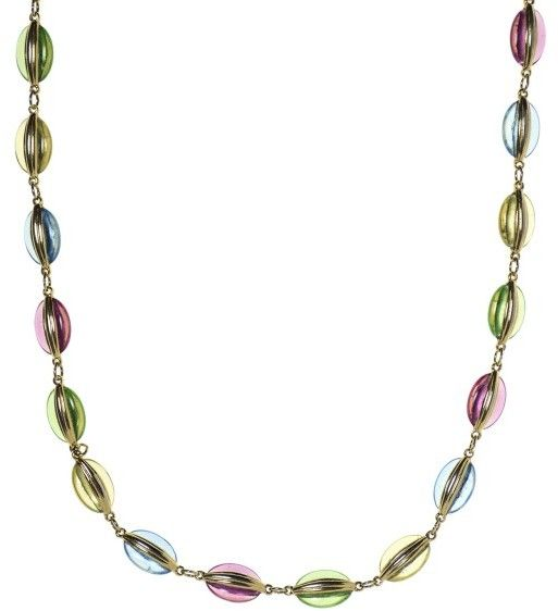 Chanel Multicolored Poured Glass Necklace