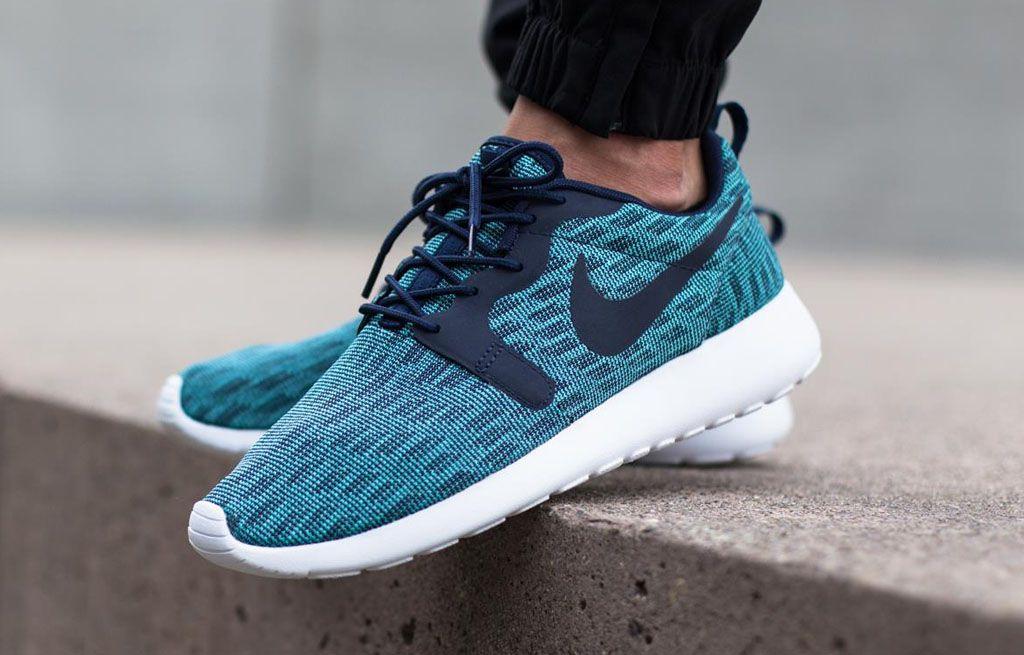 3b75dba73c3d Nike Roshe Run Jacquard Navy Aqua (1)
