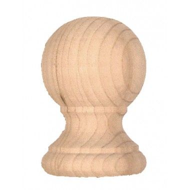 Best Cedar Ball Top Finial For Exterior Newel Posts Railings Balustrades Newel Posts Cedar 400 x 300