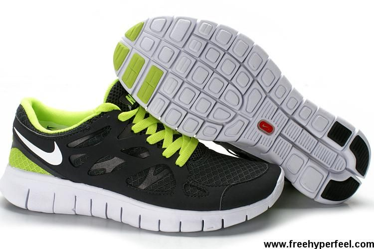 Nike Running Shoes Free Run+ 2 Black Green Men'S Best Price