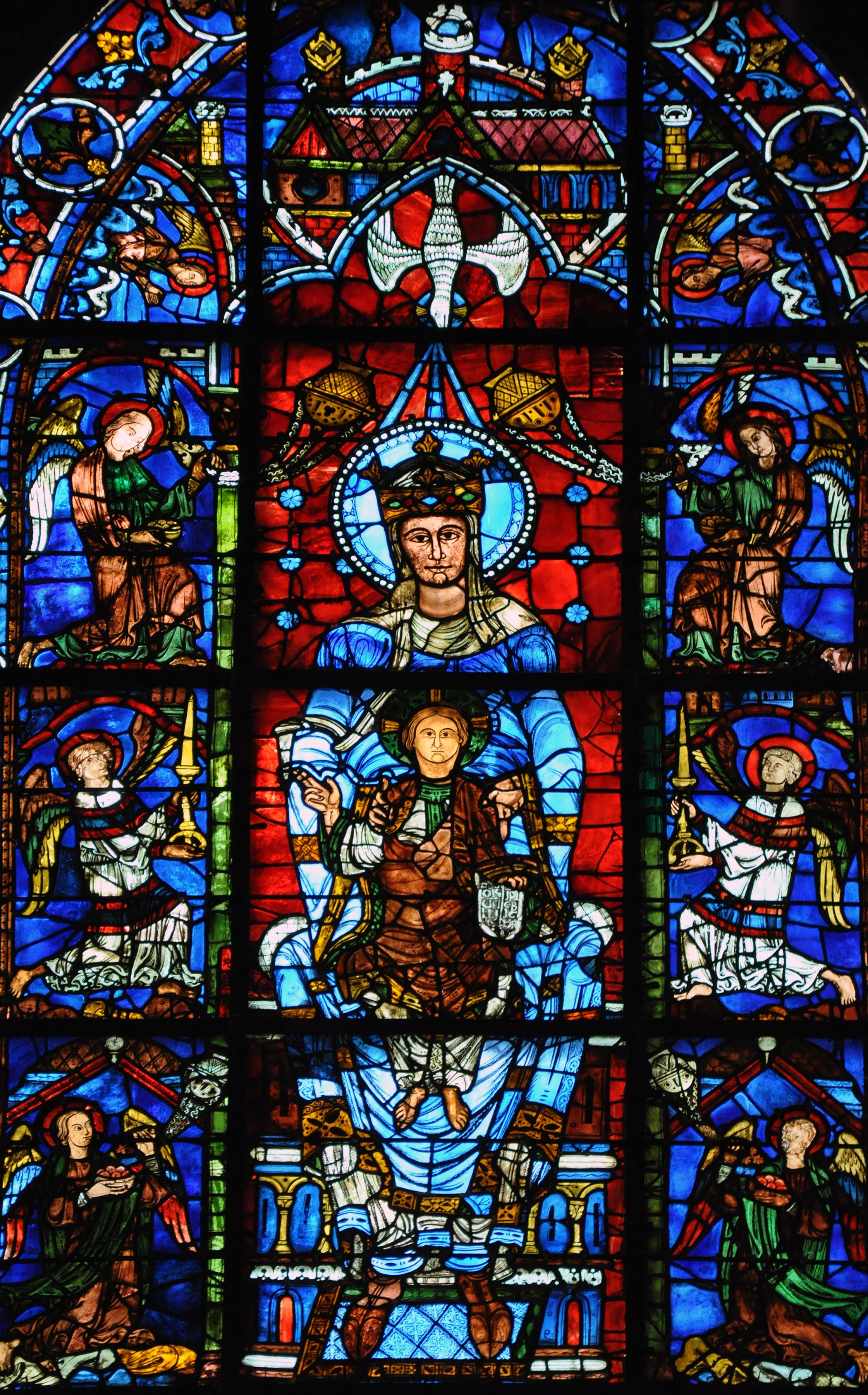 Notre Dame De La Belle Verriere Window Chartres Cathedral France Gothic Europe Original Construction C 1145 1155 CE Reconstructed