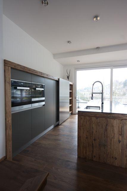 Küche in Altholz | Kitchen | Pinterest | Altholz, Küche und Moderne ...