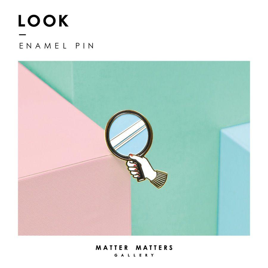Image of Look into- Enamel pin