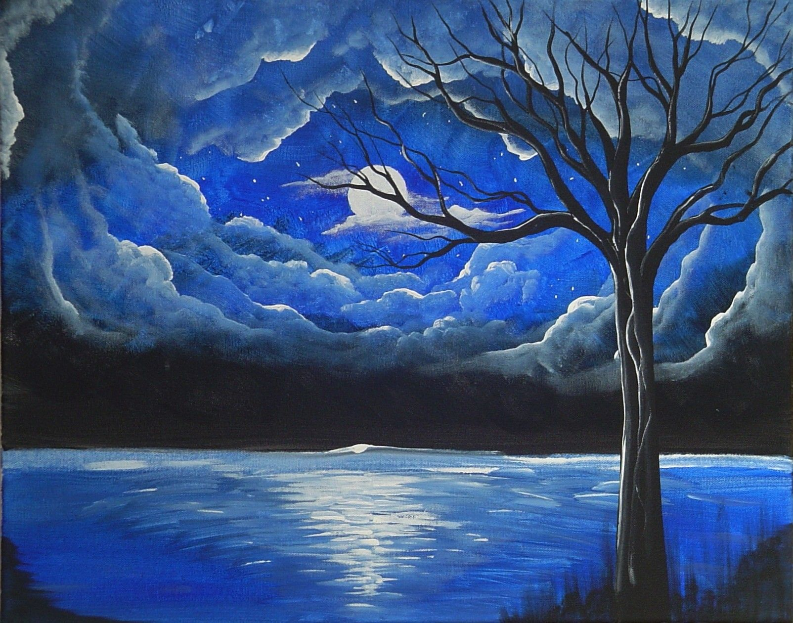 Starry Night Painting Google Search Starry Night Painting Beautiful Scenery Paintings Scenery Paintings