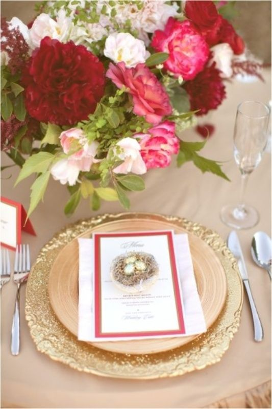 Red Wedding Ideas 2017 Pink And Sparkle Gold Color Palette Weddingomania