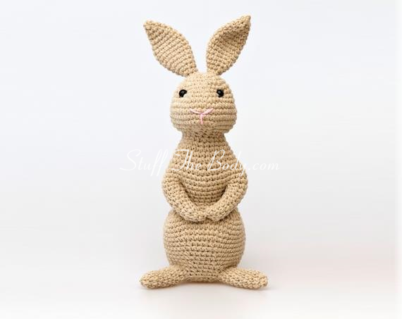 Free Amigurumi Bunny Pattern : Amigurumi bunny pattern for easter or springtime stuff the body