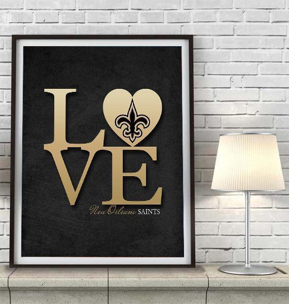 New Orleans Saints Football Love Art Print Poster Gift