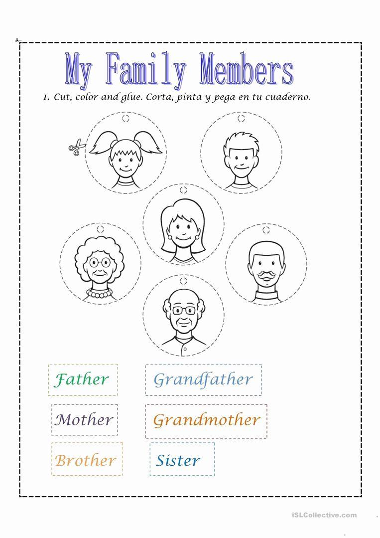 Worksheet For Kindergarten Family Kegiatan Untuk Anak Anak