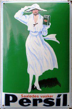 Scandinavian Vintage Persil Ad Vintage Plakater Vintagereklamer Illustration