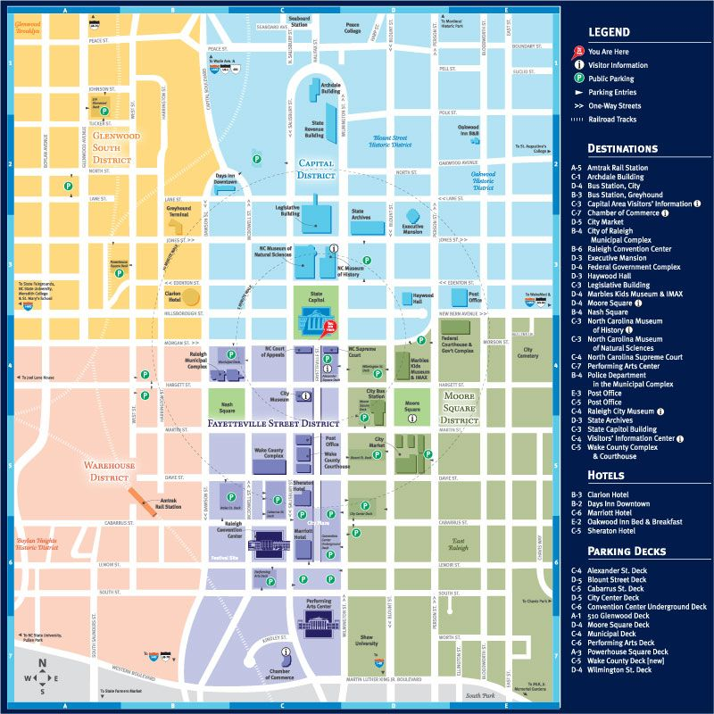 Downtown Raleigh Map - Welcome to the Raleigh Convention ...