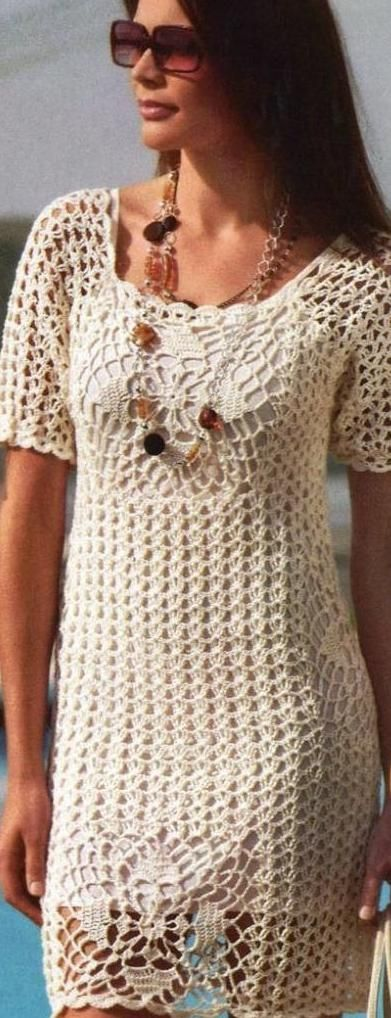 Relasé Vestito Estivo Alluncinetto Schema Crochet Knit Dress