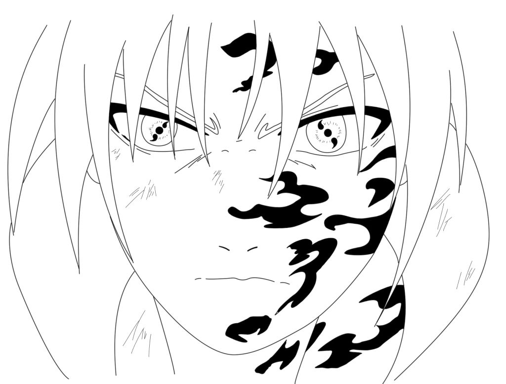 Sasuke Sharingan Coloring Pages to Print Coloring pages