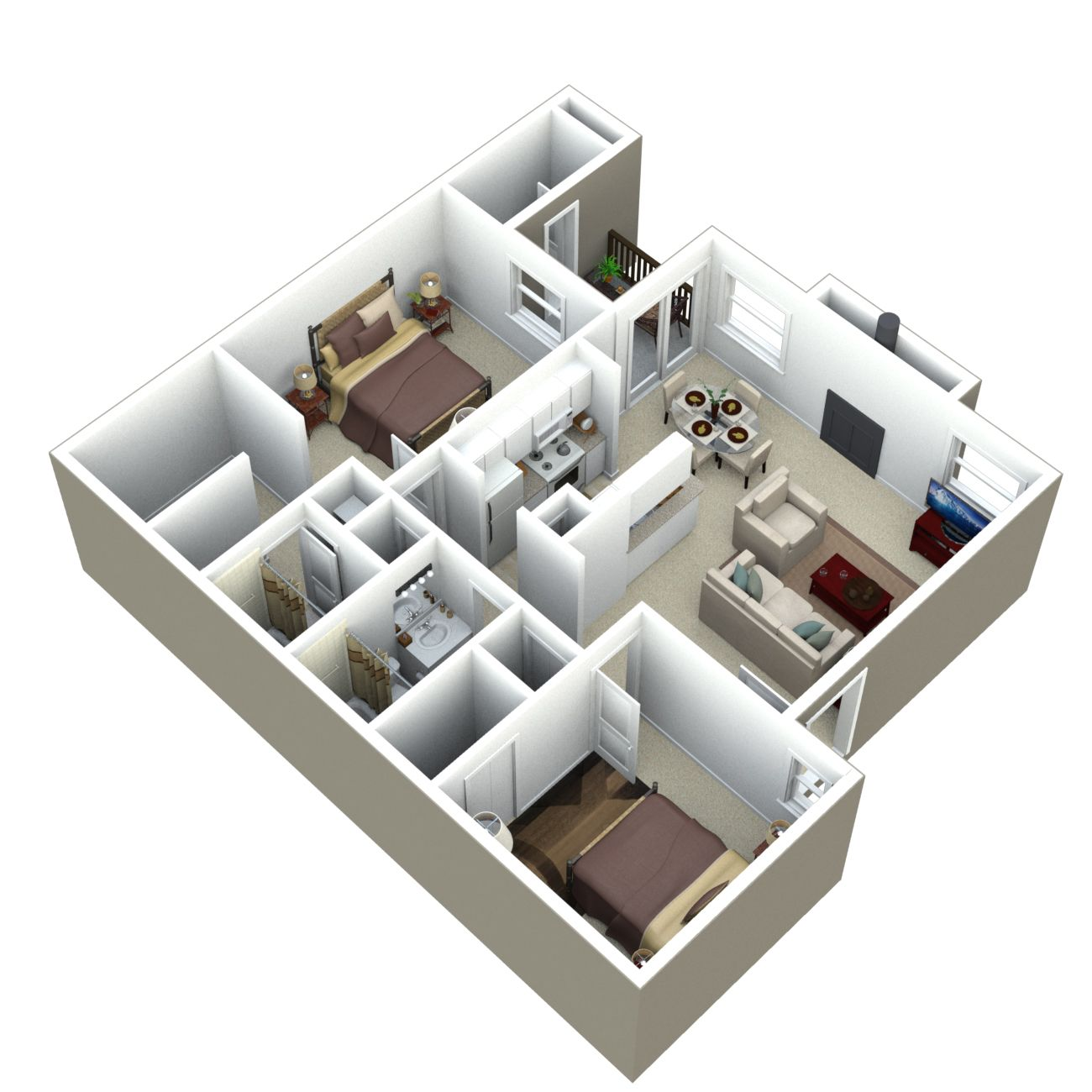 Apartment Meaning: The Poplar Apartment, At 894 Square Feet Is Our Smaller