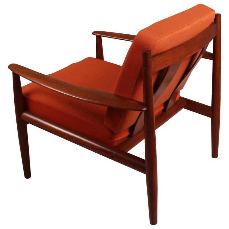 Pair Of Danish Teak Lounge Chairs By Grete Jalk For France And Son