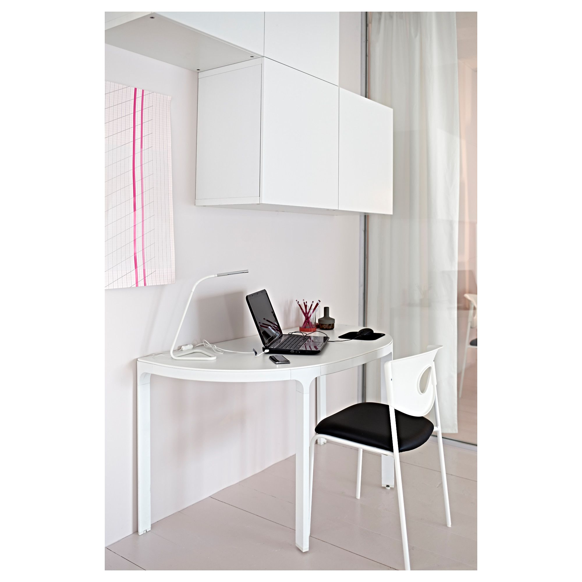 """BEKANT Conference table white 55 1/8x27 1/2 """" (140x70 cm"""