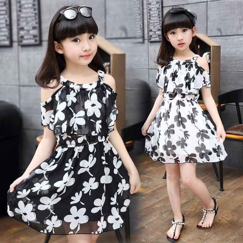 1b4b20749 Teenage Girl Dresses Summer 2016 Children's Clothing Kids Flower Dress  Chiffon Princess Dresses For Age 7 8 9 10 11 12 Years