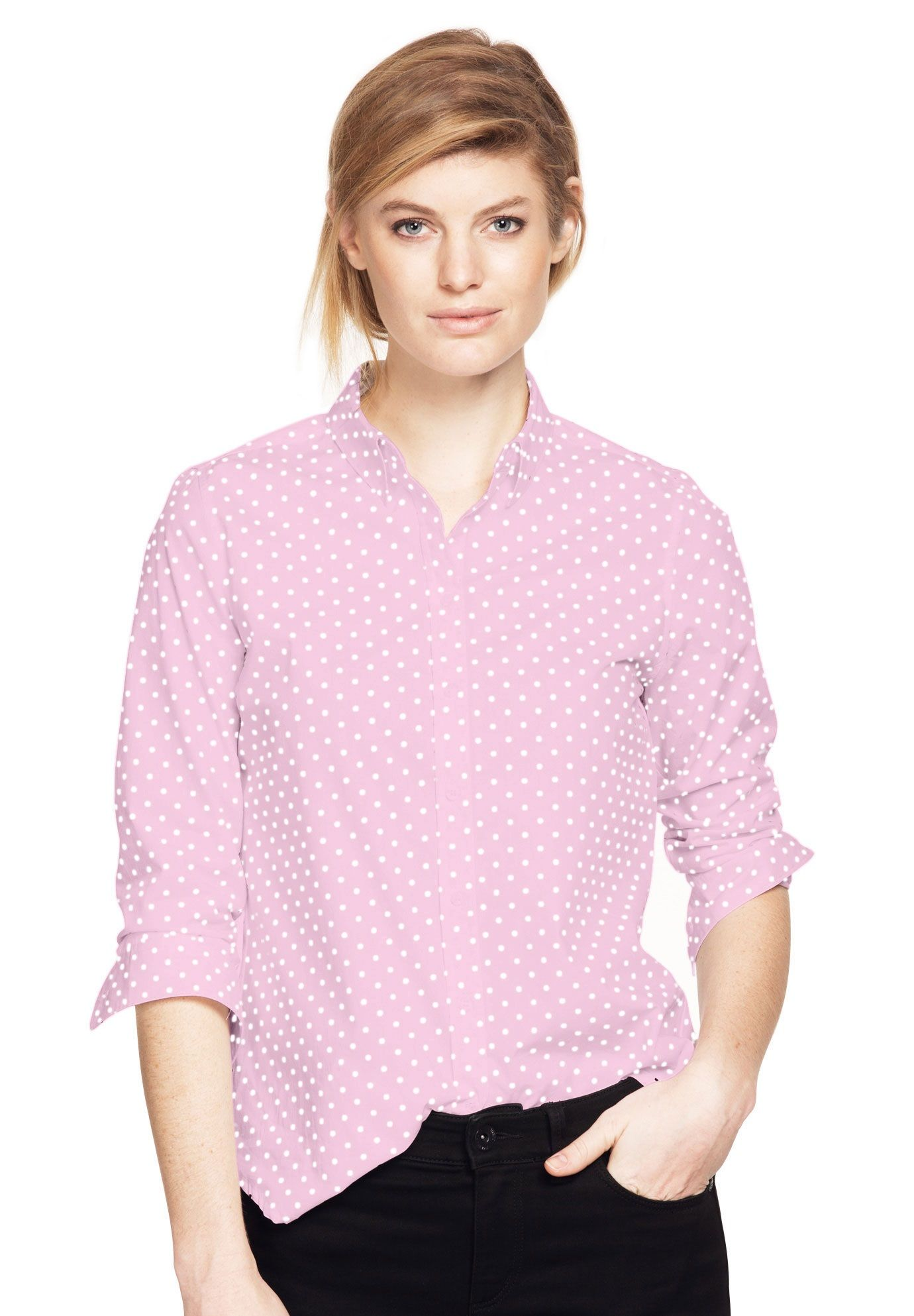 b6fd1035 Emma Button-Down Shirt by ellos - Women's Plus Size Clothing | Products |  Pinterest | Button down shirt, Plus size and Button downs