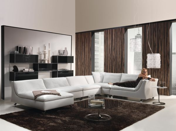 Weißes Couch Als Ein Gute Idee Fürs Wohnzimmer   Wie Ein Modernes Wohnzimmer  Aussieht U2013 135