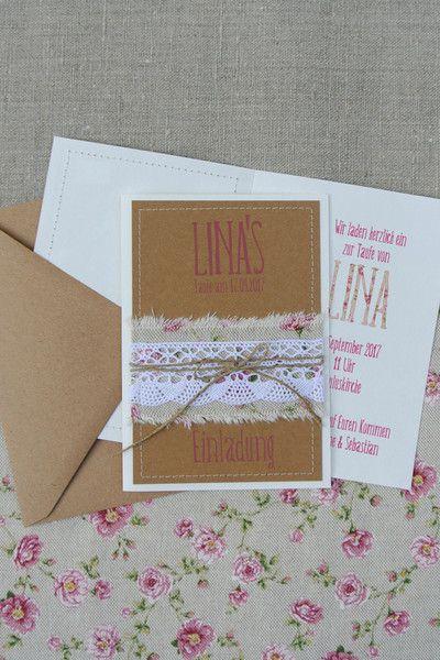 Schön Einladungskarten   Taufe Einladung Einladungskarte   Ein Designerstück Von  Papierwiese Bei DaWanda