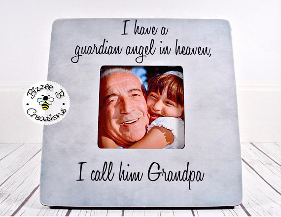 ON SALE Grandparent Memorial Picture Frame Gift. Grandfather