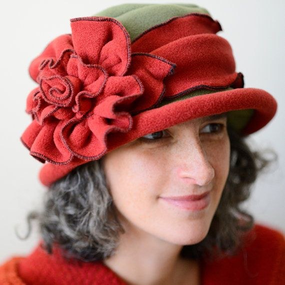 Ladies Fleece Suffragette Hat Edwardian Titanic by hatjunkie ♡