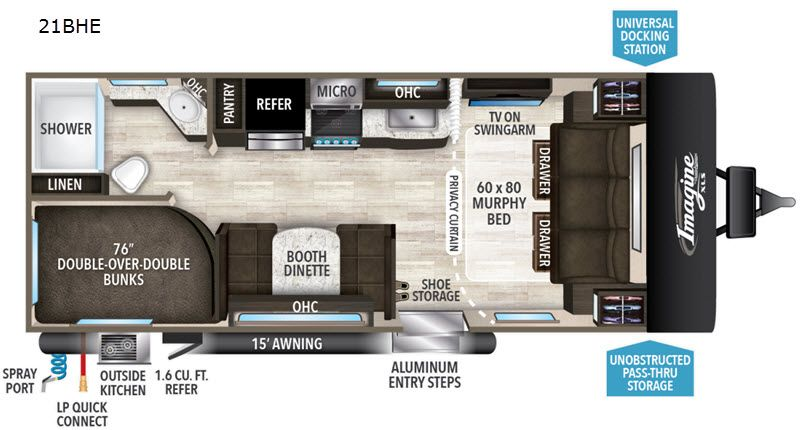 New 2020 Grand Design Imagine Xls 21bhe Travel Trailer At Campers