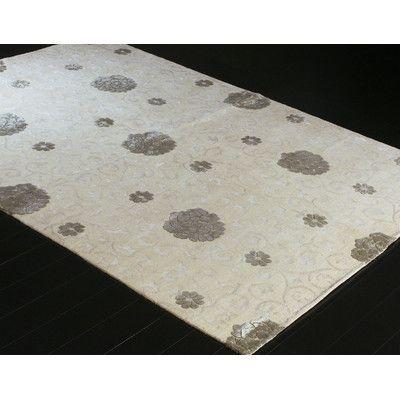 Bashian Rugs Royale White Area Rug Rug Size: 6' X 9'
