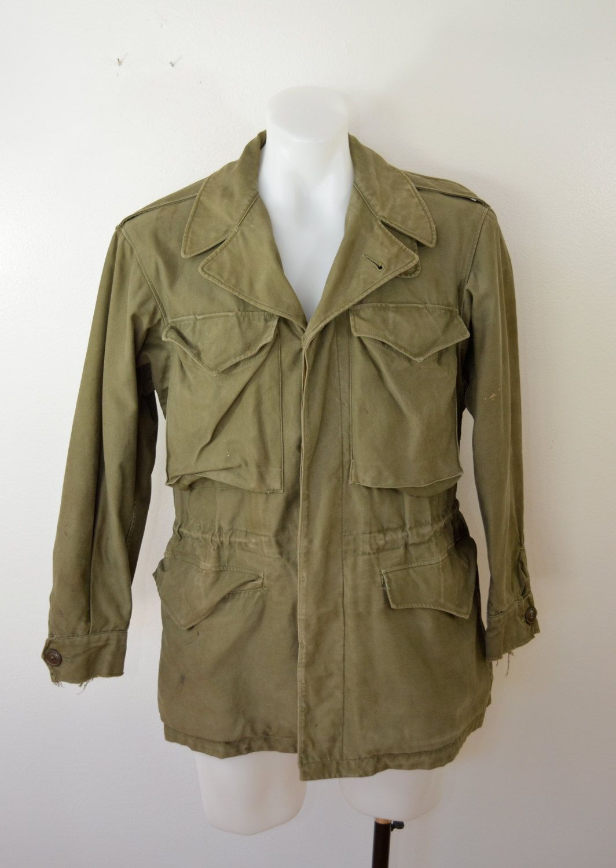 Vintage U.S. ARMY M-1943 field jacket WW2 world war 2 size 34R ...