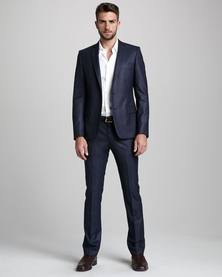 Versace Collection Shadow-Stripe Suit | Versace suits for ...