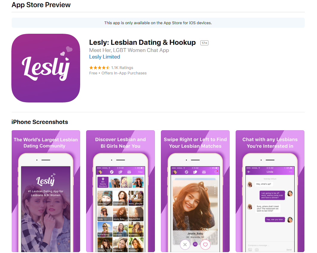 Free lesbian hookup apps for iphone