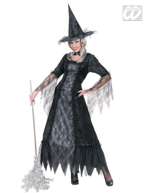 Spinnennetz-Hexe Damen-Kostüm schwarz-silber | Halloween | Pinterest ...