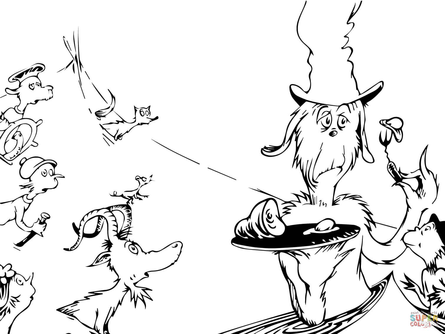 Green Eggs And Ham Dr Seuss Coloring Pages Green Eggs And Ham Dr Seuss Coloring Sheet